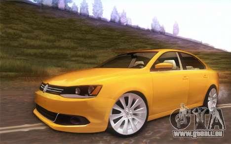 Volkswagen Vento 2012 pour GTA San Andreas vue arrière