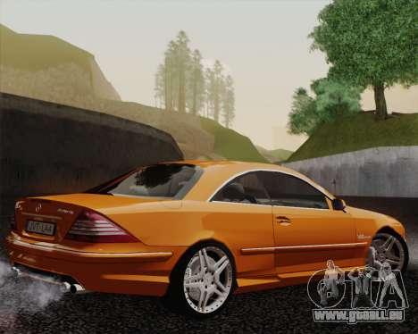 Mercedes-Benz CL65 pour GTA San Andreas laissé vue