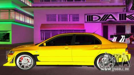 Mitsubishi Lancer Evolution VIII Type 8 für GTA Vice City linke Ansicht
