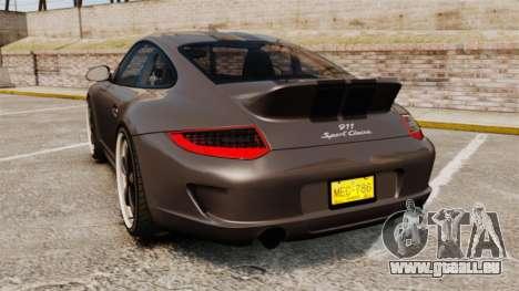 Porsche 911 Sport Classic 2010 pour GTA 4 Vue arrière de la gauche