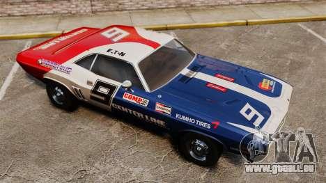 Dodge Challenger 1971 v2 pour GTA 4 vue de dessus