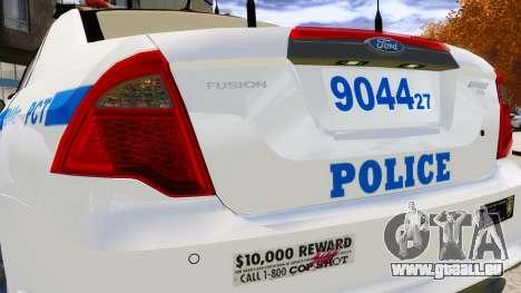 Ford Fusion LCPD 2011 [ELS] pour GTA 4 est un côté