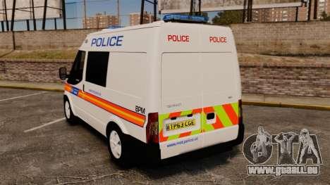 Ford Transit 2013 Police [ELS] pour GTA 4 Vue arrière de la gauche