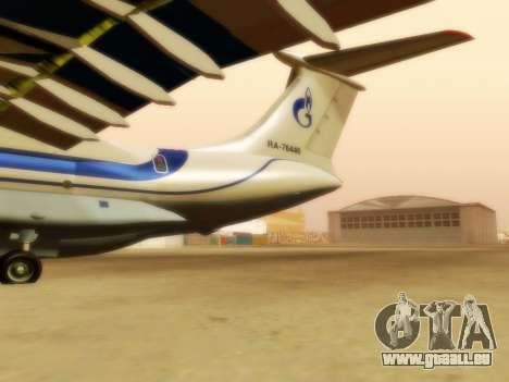 Gazpromavia il-76td pour GTA San Andreas sur la vue arrière gauche