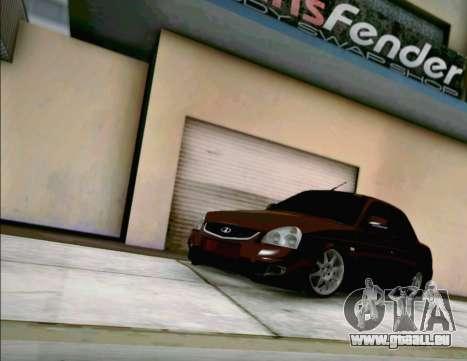 LADA Priora 2170 pour GTA San Andreas laissé vue