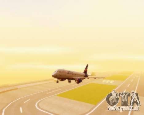 Sukhoi Superjet 100-95 Aeroflot pour GTA San Andreas vue arrière