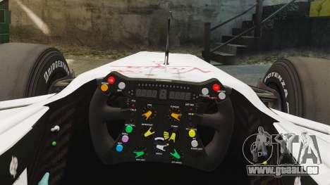 Brawn BGP 001 2009 pour GTA 4 Vue arrière