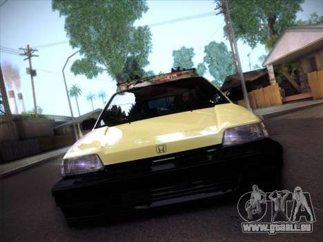 Honda Civic Si 1986 pour GTA San Andreas vue arrière