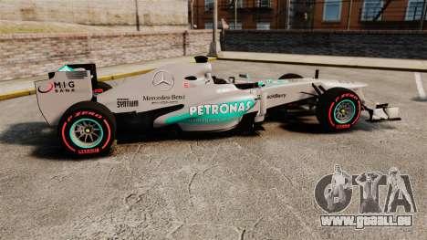 Mercedes AMG F1 W04 v6 pour GTA 4 est une gauche