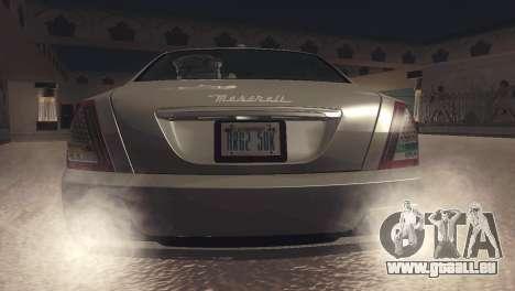 Maserati Quattroporte 2012 pour GTA San Andreas vue de droite