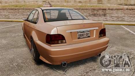 Sentinel RS pour GTA 4 Vue arrière de la gauche