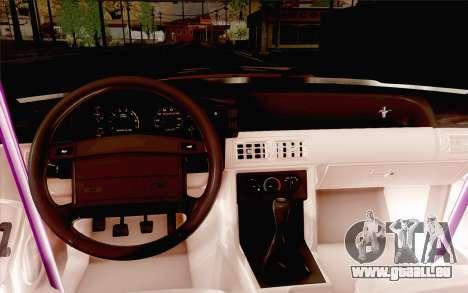 Ford Mustang SVT Cobra 1993 Drift für GTA San Andreas Seitenansicht