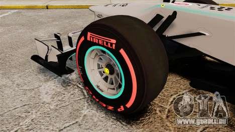 Mercedes AMG F1 W04 v6 für GTA 4 Rückansicht