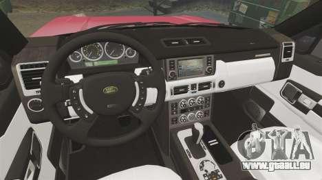 Range Rover TDV8 Vogue für GTA 4 Innenansicht