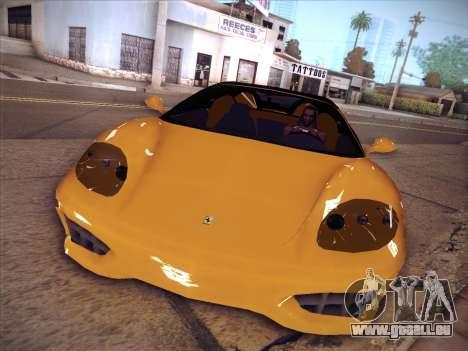 Ferrari 360 Spider pour GTA San Andreas sur la vue arrière gauche