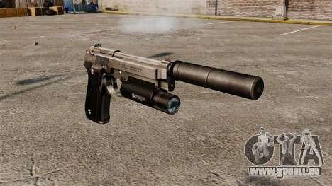 Pistolet semi-automatique Beretta 92 avec silenc pour GTA 4