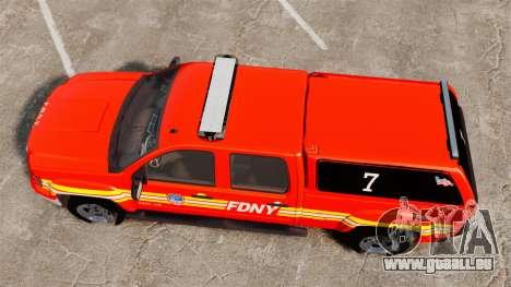 GMC Sierra 2500HD 2010 FDNY [ELS] pour GTA 4 est un droit