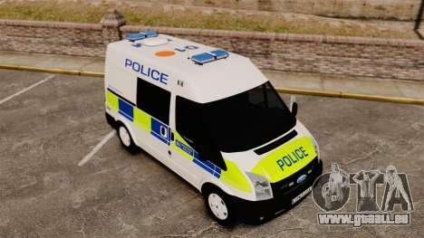 Ford Transit 2013 Police [ELS] pour GTA 4 vue de dessus