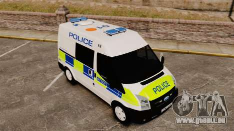 Ford Transit 2013 Police [ELS] für GTA 4 obere Ansicht