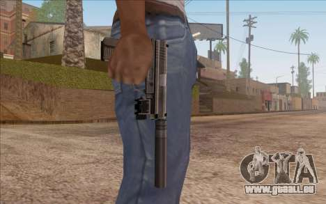 Pistolet avec silencieux pour GTA San Andreas troisième écran