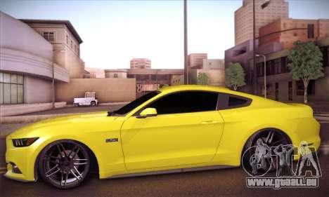 Ford Mustang 2015 Swag pour GTA San Andreas sur la vue arrière gauche