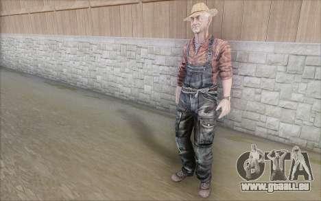 Agriculteur pour GTA San Andreas quatrième écran