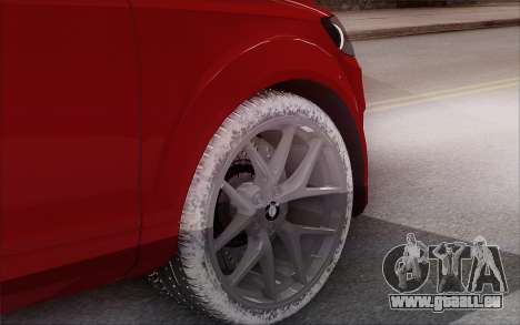 Audi Q7 Winter pour GTA San Andreas sur la vue arrière gauche