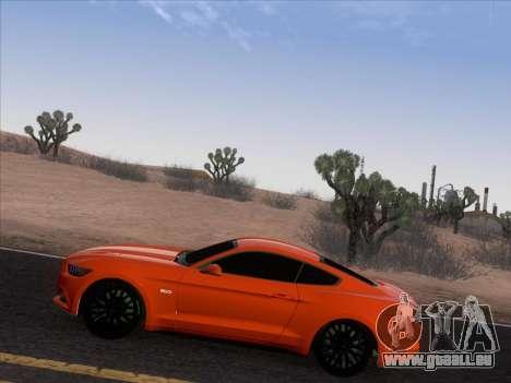 Ford Mustang GT 2015 pour GTA San Andreas vue de côté
