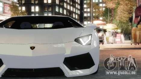 Lamborghini Aventador LP700-4 [EPM] 2012 pour GTA 4 Vue arrière