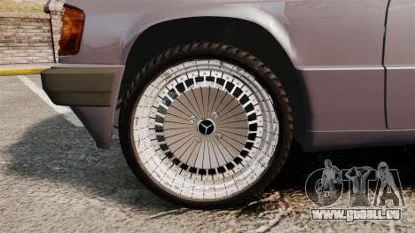 Mercedes-Benz E190 W201 für GTA 4 Rückansicht