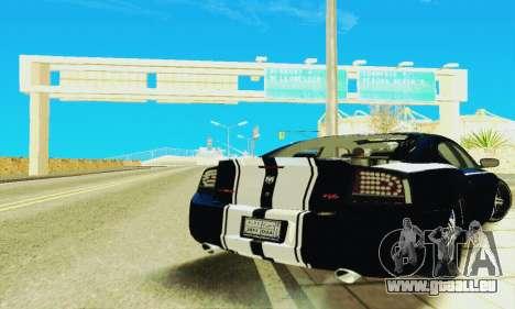 Dodge Charger DUB für GTA San Andreas Rückansicht