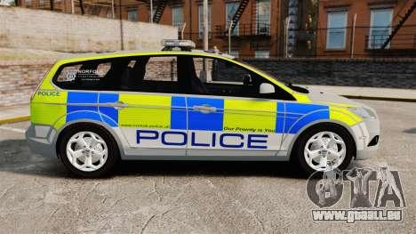Ford Focus Estate Norfolk Constabulary [ELS] für GTA 4 linke Ansicht