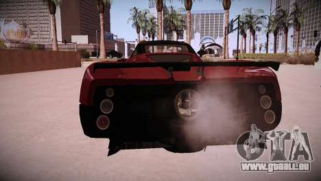 Pagani Zonda pour GTA San Andreas vue de droite