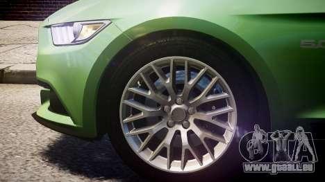Ford Mustang GT 2015 für GTA 4 hinten links Ansicht