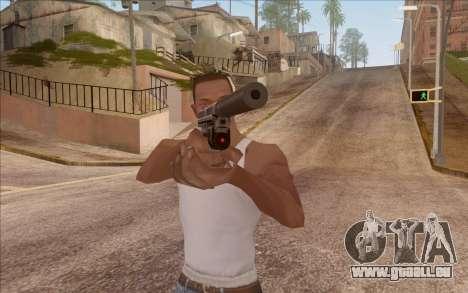 Pistolet avec silencieux pour GTA San Andreas deuxième écran