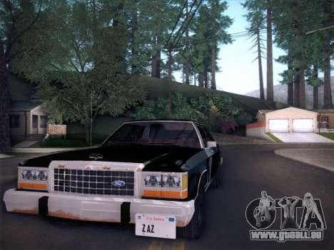 Ford LTD Crown Victoria 1985 für GTA San Andreas zurück linke Ansicht