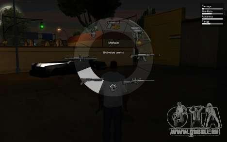 GTA V Weapon Scrolling pour GTA San Andreas