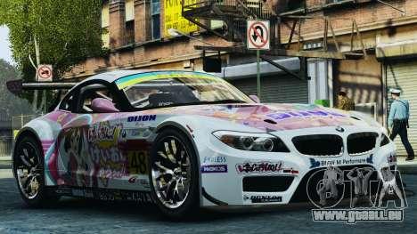 BMW Z4 GT3 2010 pour GTA 4 Salon