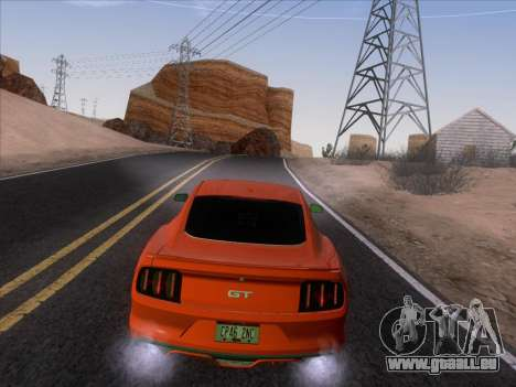 Ford Mustang GT 2015 für GTA San Andreas obere Ansicht
