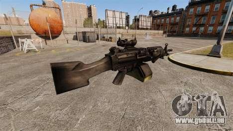 Mitrailleuse légère de FN Mk 46 pour GTA 4 secondes d'écran