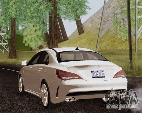Mercedes-Benz CLA 250 2013 pour GTA San Andreas laissé vue
