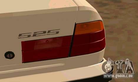 BMW 525 pour GTA San Andreas vue arrière