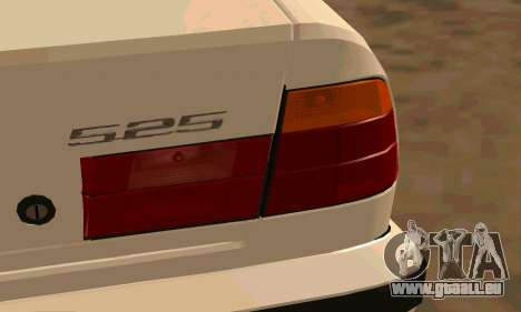 BMW 525 für GTA San Andreas Rückansicht
