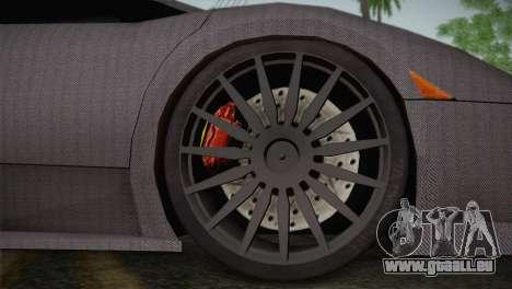 Lamborghini Murcielago GT Carbone pour GTA San Andreas vue arrière