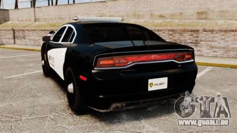 Dodge Charger 2013 LCPD STL-K Force [ELS] pour GTA 4 Vue arrière de la gauche