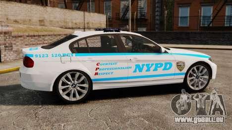 BMW 350i NYPD [ELS] für GTA 4 linke Ansicht