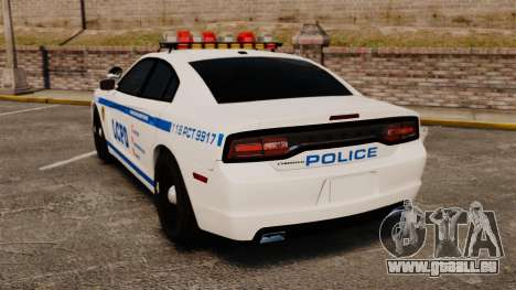 Dodge Charger 2012 LCPD [ELS] für GTA 4 hinten links Ansicht