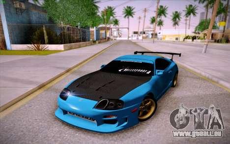 Toyota Supra RZ 1998 Drift pour GTA San Andreas vue arrière