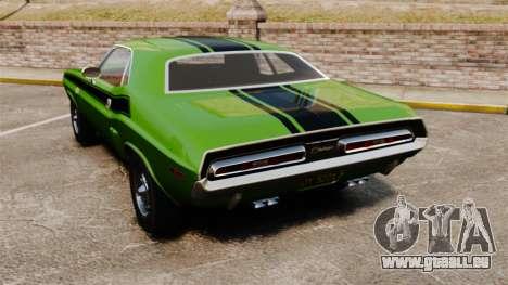 Dodge Challenger 1971 v2 pour GTA 4 Vue arrière de la gauche