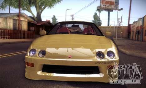 Honda Integra Drift pour GTA San Andreas sur la vue arrière gauche